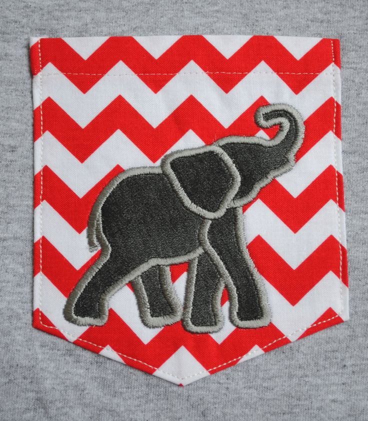 Alabama elephant chevron pocket tee by LindsaysMonograms on Etsy, $22.00