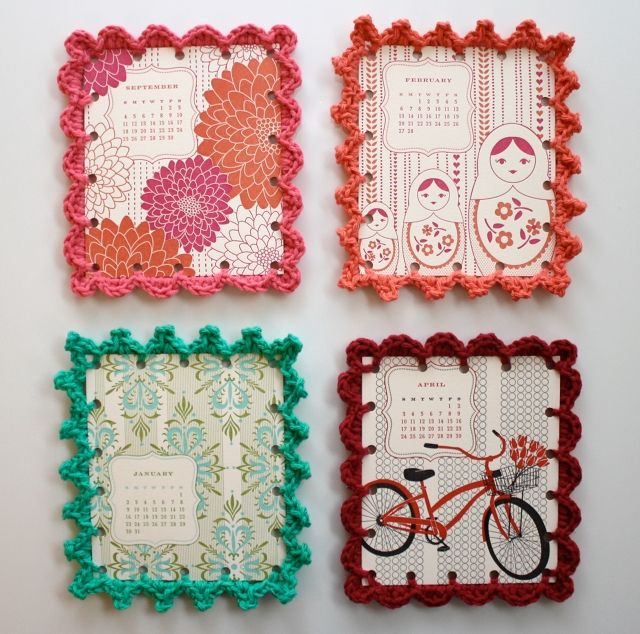 {QUESTION} These are so cute. I can't crochet, but I thought it might be fun to have the girls punch holes and edge their valentines with yarn (same concept). Are you making homemade cards, ordering online, buying them at the store? I'd love to hear what you're doing!