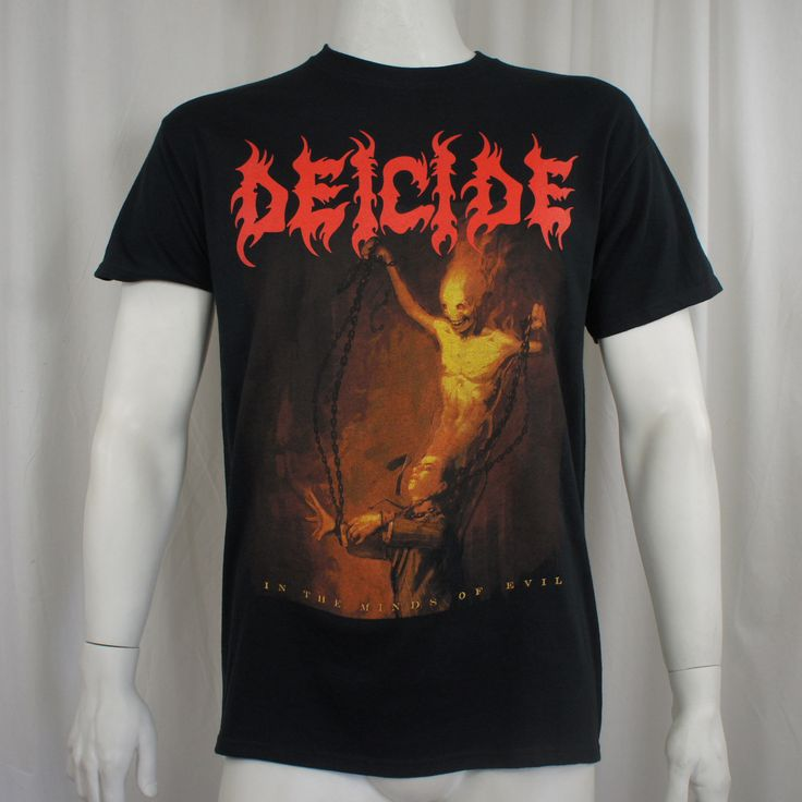 >> Click to Buy << Gildan Authentic DEICIDE Band In The Minds Of Evil Album Cover NEW men t shirt #Affiliate