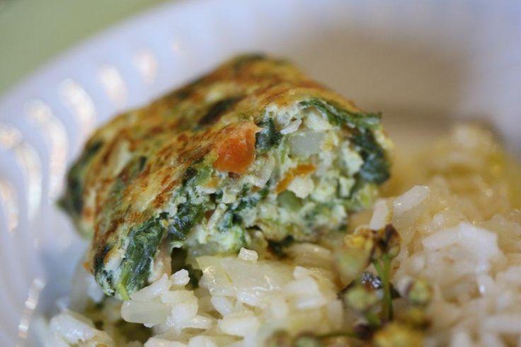 Omelete de Pescada com Grelos, Cenouras e Batata, fica ótima!!!