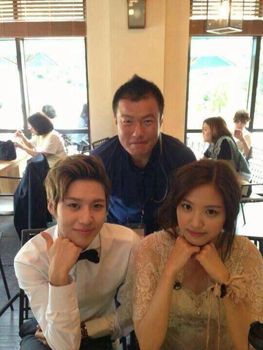 Taemin and Naeun WGM behind the scenes of wedding photoshoot
