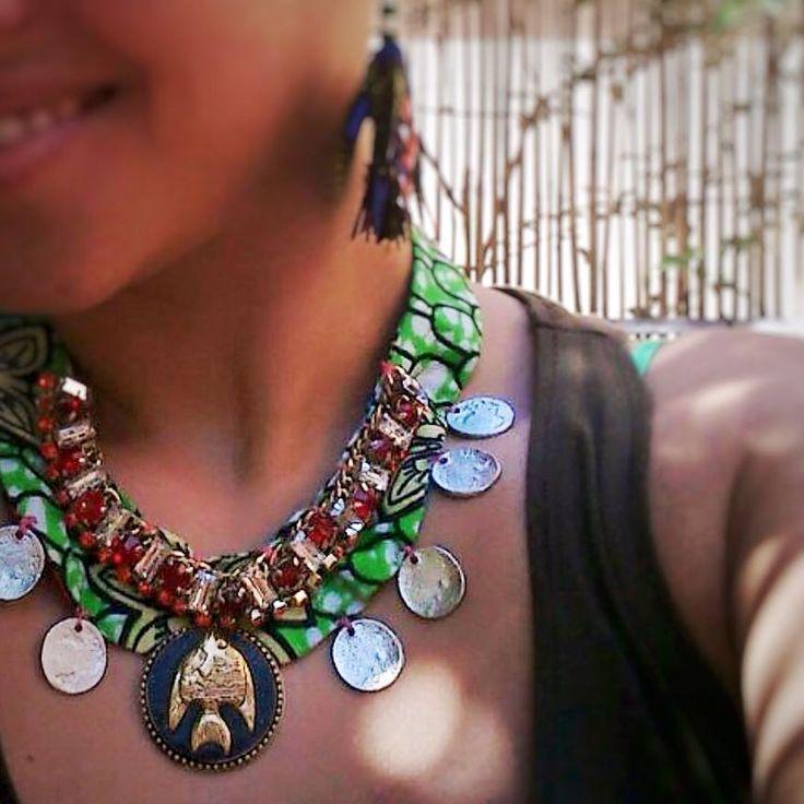 Per la sua estate africana Francesca ha acquistato la nostra #collana Victoria Falls!  Informazioni ed ordini anche con whatsapp 3240756644  #bluepointfirenze #jewelrystore #jewelsdetail #jewelrydesign #handmadejewellery #madeinitaly