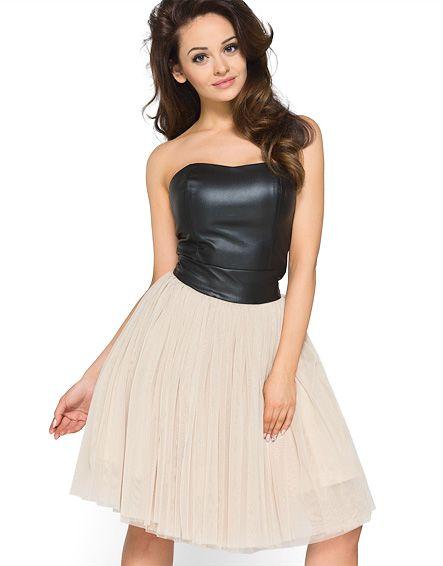 Tiulowa sukienka ze skórzanym gorsetem KM120, Tiulowa sukienka ze skórzanym gorsetem KM120 online, Tiulowa sukienka ze skórzanym gorsetem KM120 online, produkt Tiulowa sukienka ze skórzanym gorsetem KM120, Sukienki, sklep internetowy Tiulowa sukienka ze s