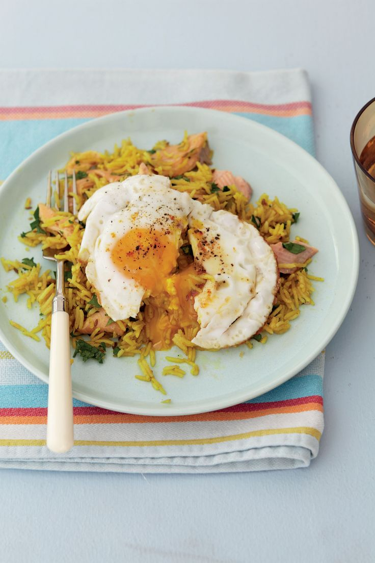 Smoked trout with kedgeree pilaf recipe from Anjum's Quick & Easy Indian by Anjum Anand | Cooked