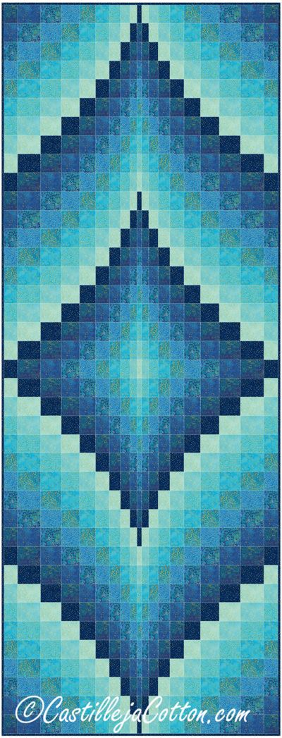 Fire Within Blue Lagoon Quilt Pattern                                                                                                                                                                                 More