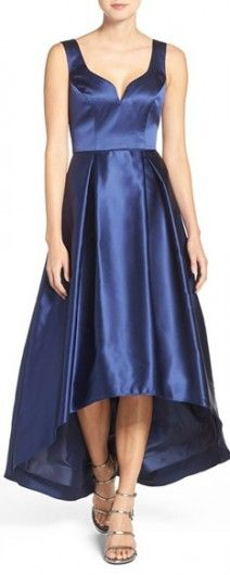 Women's Xscape 'L'Amour' High/low Satin Ballgown
