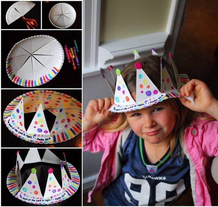 paper plate princess crown