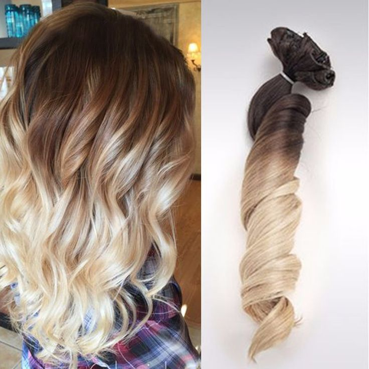 Aplique Tic Tac Ombre Hair Cabelo Humano Ondulado 51 cm 140 gramas Cabelo Remy 8A Cor 3/6/22 Castanhos e Loiro //Price: $638.11 & FREE Shipping