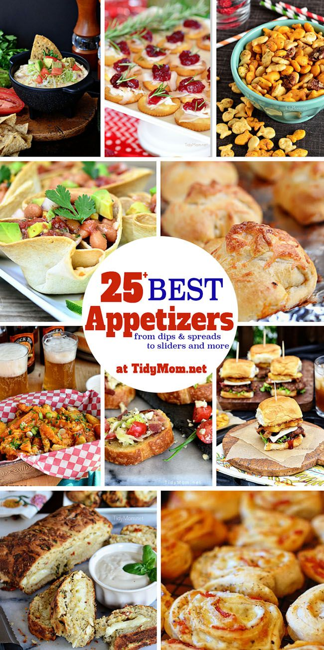 Start any gathering off right with these easy party appetizers... You will find recipes for dips, spreads, sliders, finger foods, and more.