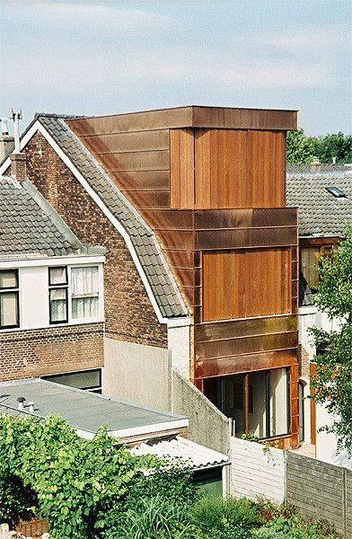 Transformation and copper house-extension Utrecht, the Netherlands by Zecc Architecten
