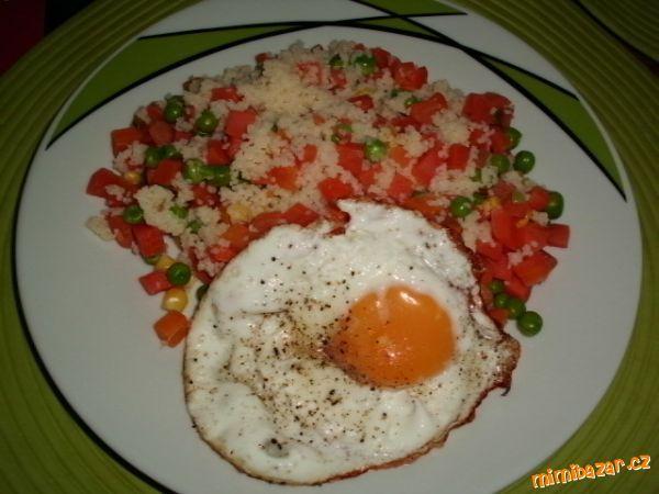 lehká večeře- kuskus ze zeleninou