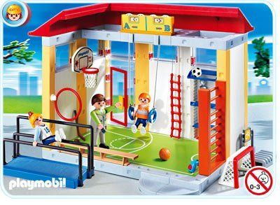 Playmobil School House Sports Gym Play Set by Playmobil Toys. $49.95. snap together assembly. Building play set with figures and accessories