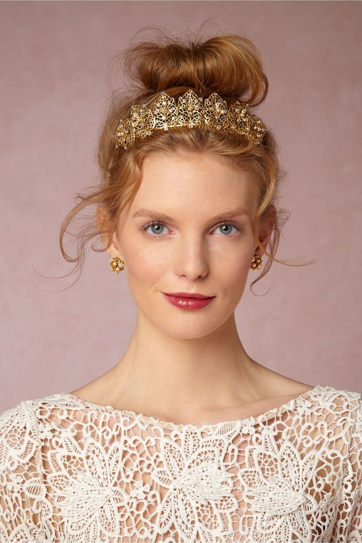 gilded tiara | Francesca Tiara from BHLDN