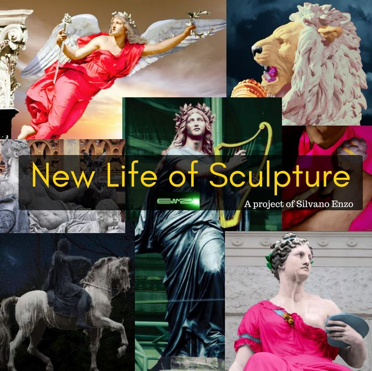 New life of sculpture  Fotomanipulation of monument sculpture in Vienna