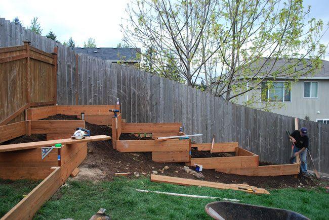 Garden Bed On Slope Yard Tr 228 Dg 229 Rdsid 233 Er