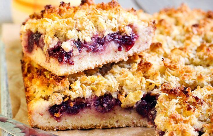 Warm Berry Breakfast Bars