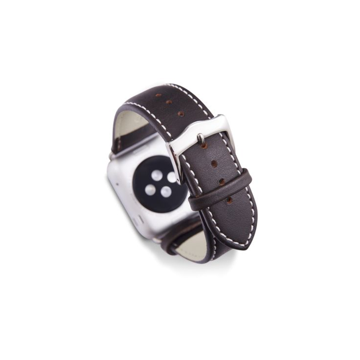Classic design with metal lugs and buckle