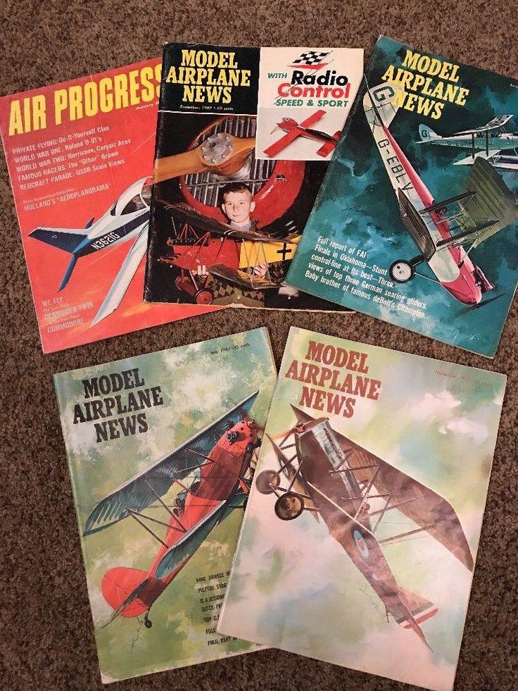 Model Airplane News Magazine 1960-1969 & Air Progress 1964 Lot of 5