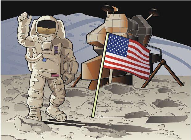 A bandeira americana que foi fincada na Lua ainda está lá?