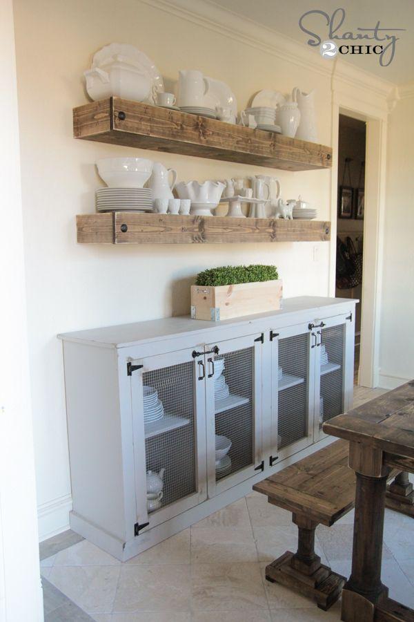 Best 25 dining room floating shelves ideas on pinterest wood floating shelves floating - Dining room shelves ...