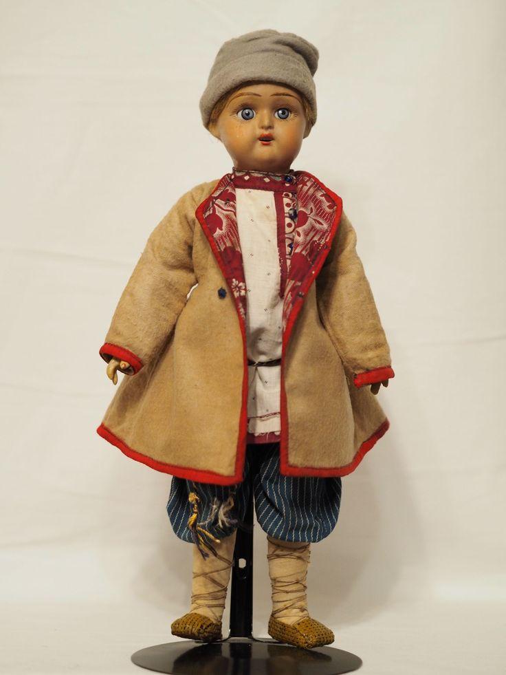 русская антикварная кукла Дунаев. Паренёк