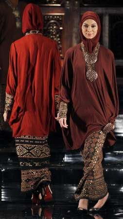 Match with songket or batik