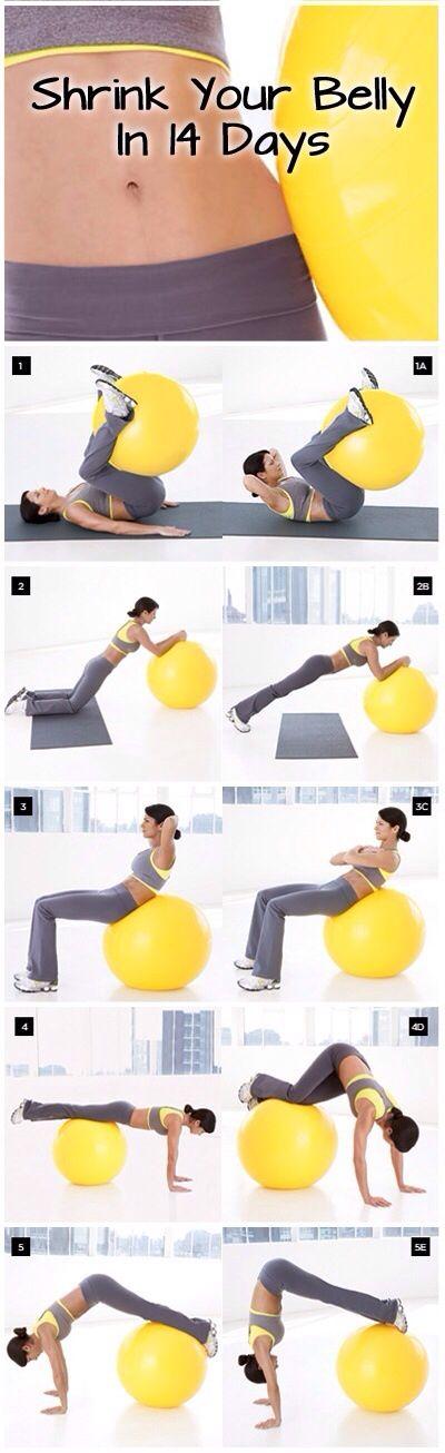Rutina con balón para mejorar tu forma física en solo 14 días y mejores la tonificación  de #glúteos y #abdomen