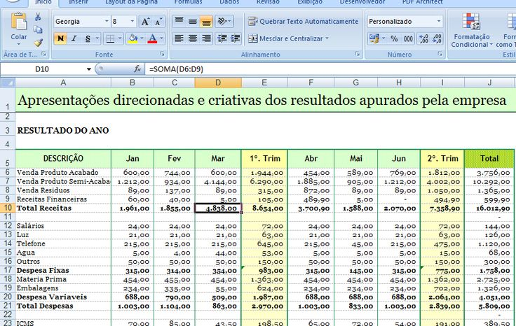EXCEL FACIL IDEAS AND SOLUTIONS: EXCEL, DEMONSTRATIVO DE RESULTADOS, PLANILHA