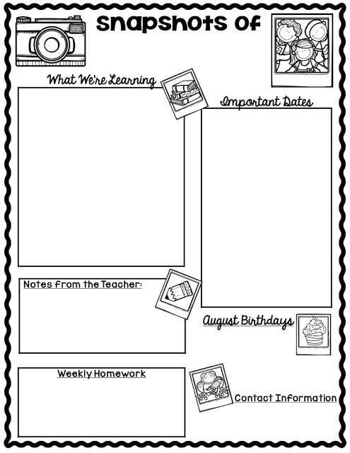 Best  Weekly Newsletter Template Ideas On   Classroom
