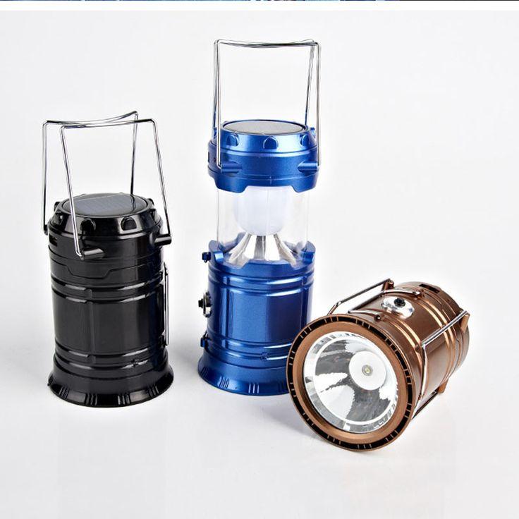 Solar Led-taschenlampe Camping Lichter Wiederaufladbare Laterne Taschenlampen für Outdoor Camping Wandern Rucksackreisen Werkstatt Notfall