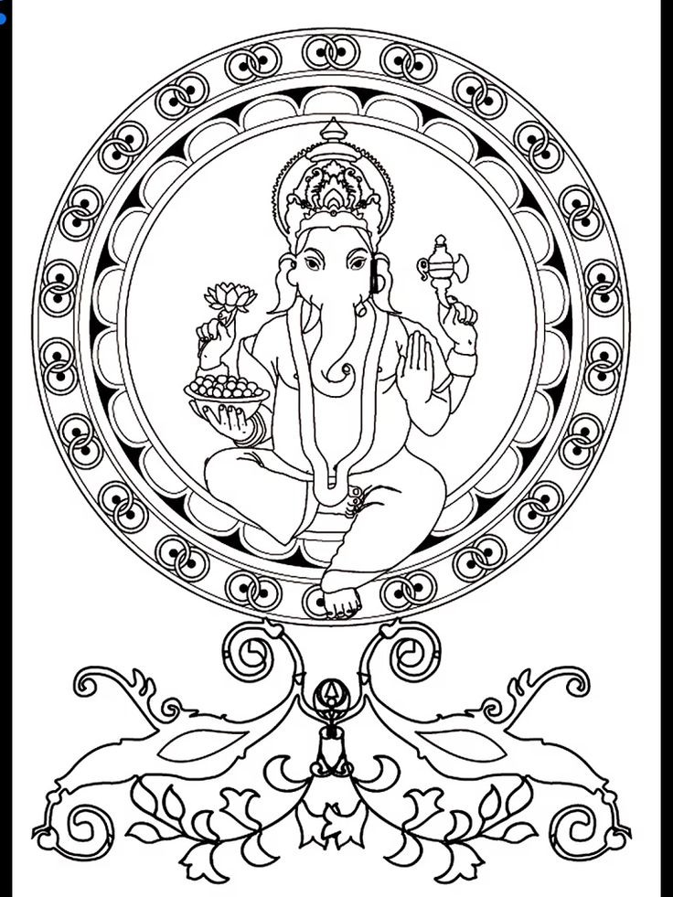 free coloring page coloring adult ganesh the hindu deity ganesh coloring god of wisdom intelligence and knowledge represented with four arms and an