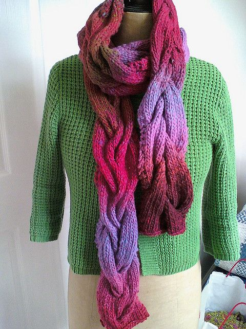 Cora Scarf By Sarah Hatton - Free Knitted Pattern - (ravelry)