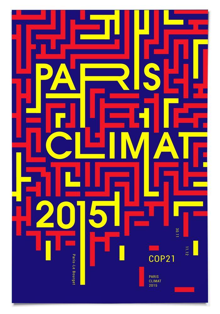 Typographie - affiche - cop 21 - paris