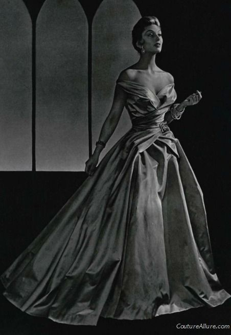 Jean Patou ball gown, 1954.  If I had one last day to live, I would wear THIS.
