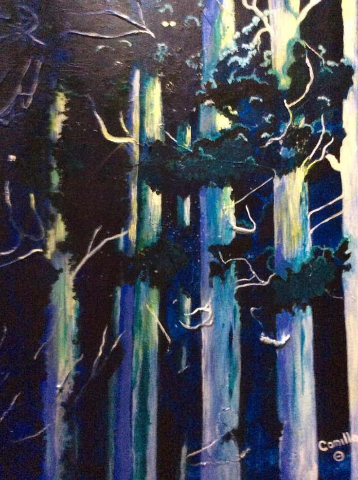 Moonlight Sonata.Acrylic on canvas