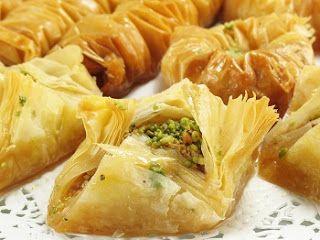 Baklava. Pistachios, almonds, walnut or hazelnut... I prefer pistachio.  I like them all! Repinned by www.loisjoyhofmann.com