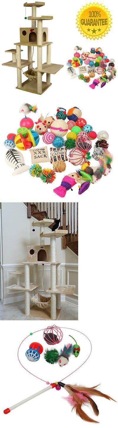 Cat Lover Products 117422: Large Cat Tree Furniture Condo Cats Play Toys Scratch Post Kitty Pet Tower Loft BUY IT NOW ONLY: $249.37