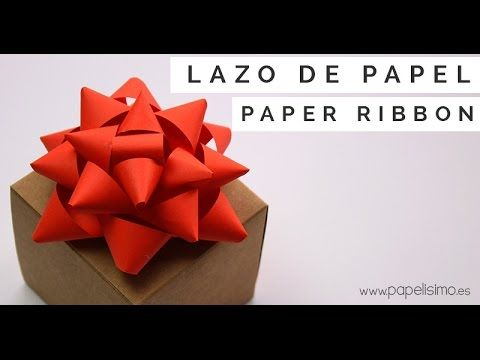 Lazo de papel para envolver regalos manualidades con - Youtube manualidades de papel ...