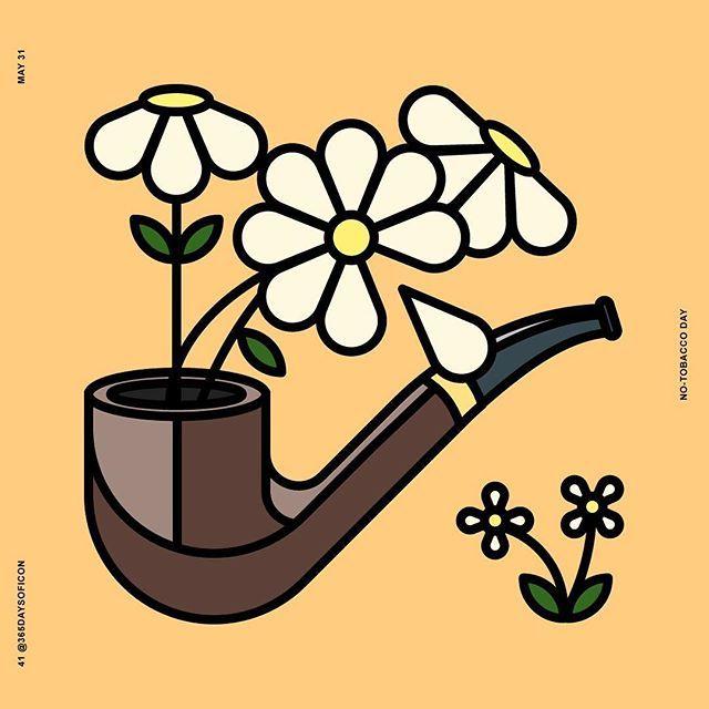 41/365 May 31🌎 No Tobacco Day! https://www.instagram.com/365daysoficon/ #365daysoficon #daisy #pipe #WNTD #renemagritte #notobacco #today #day #challenge #world #calendar #icon #iconaday #365challenge #icondesign #adobe #illustrator #vector #pixelperfect #love #positiveenergy #positivevibes #flatdesign #logo #line #colors #branding #design #designstudio #designer #future
