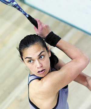 New Zealand's world No. 10 squash player, Shelley Kitchen