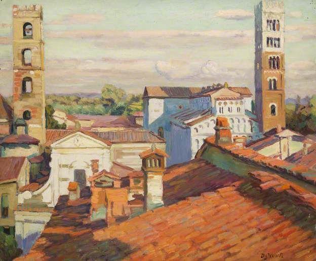 Toscane, Lucques, par Duncan Grant, 1949