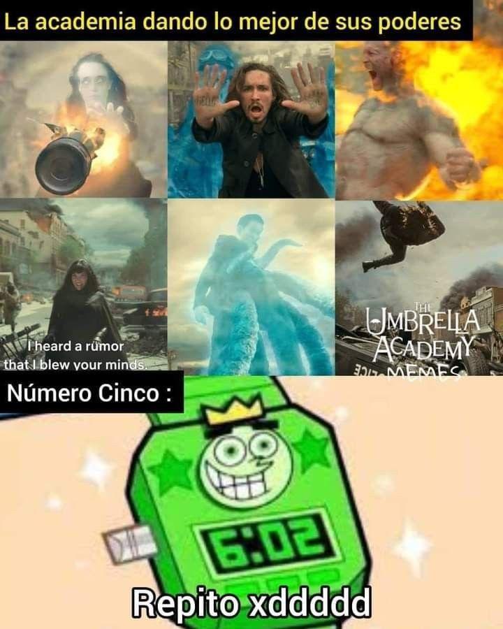 Pin De Fatimamariposa En The Umbrella Academy Memes De Peliculas Memes Divertidos Memes Comicos