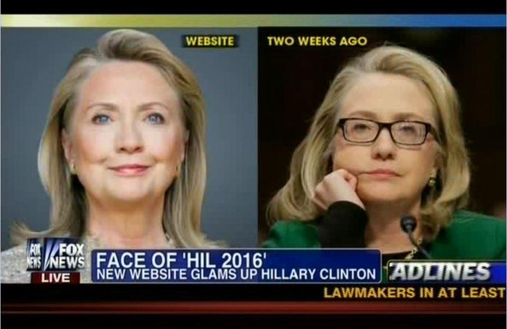 Fox News speculates that Hillary Clinton had a face lift. There they go, getting all sexist again.