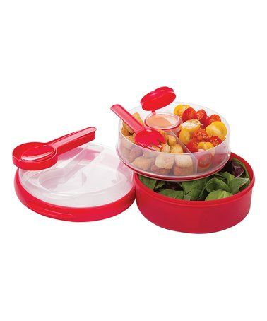 Love this Red On-the-Go Divided Lunch Container on #zulily! #zulilyfinds