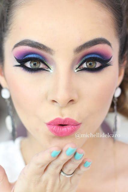Michelli Make Up: Maquiagem Colorida Carnaval - Opção 2