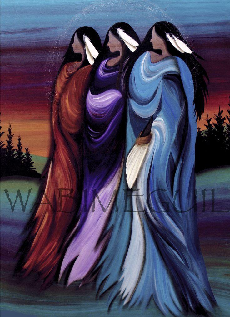 Three Sisters by Wabimeguil I Custom Prints I Canvas, Acrylic or Framed