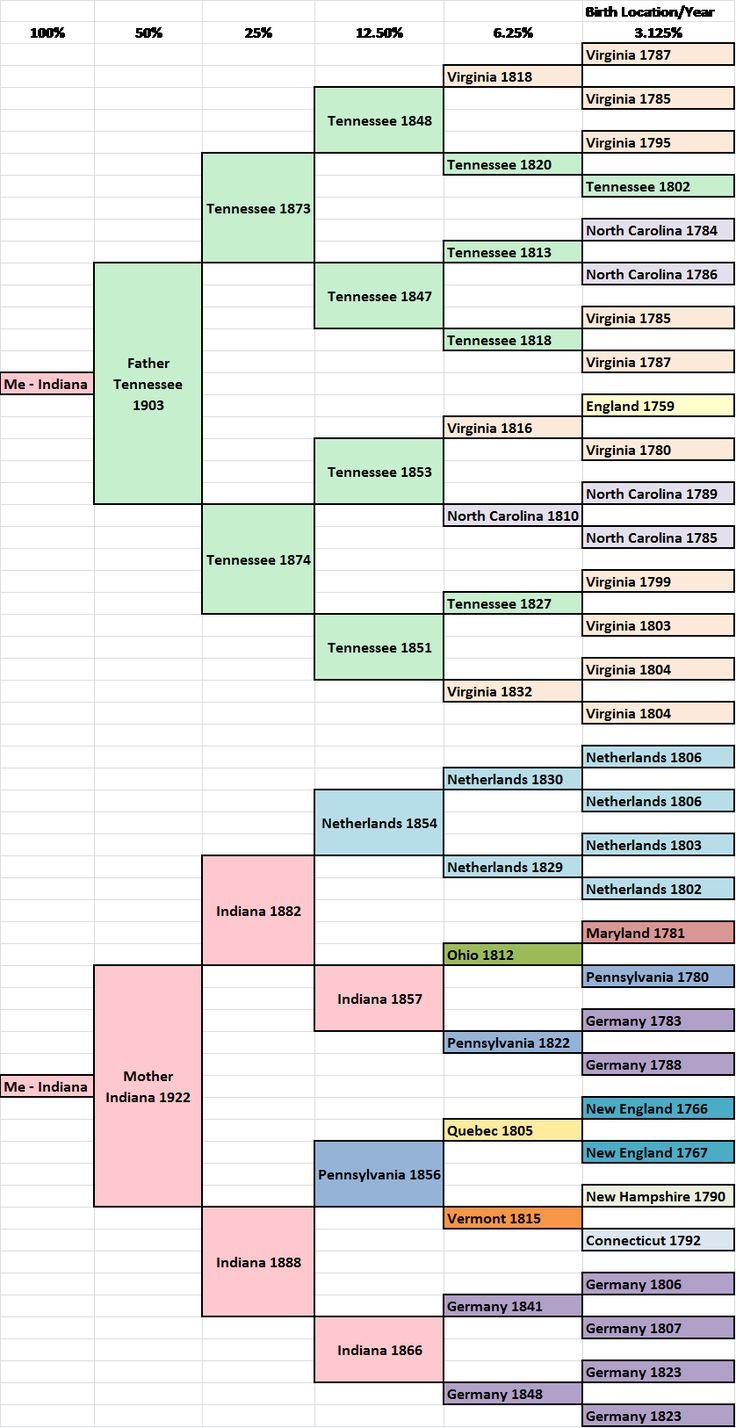 excel pedigree chart