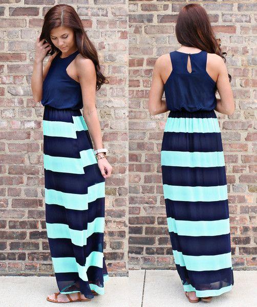 Navy Ball Maxi- Convention dress?... Modest & cute !