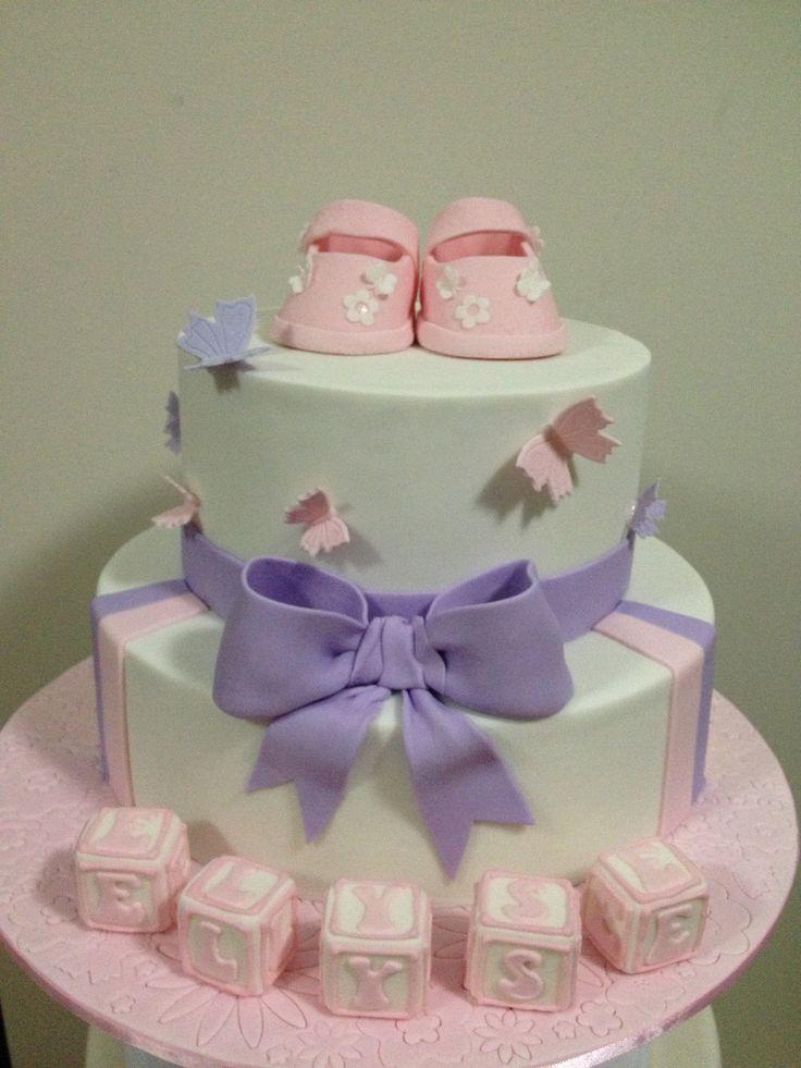 Baby Bootie, christening cake