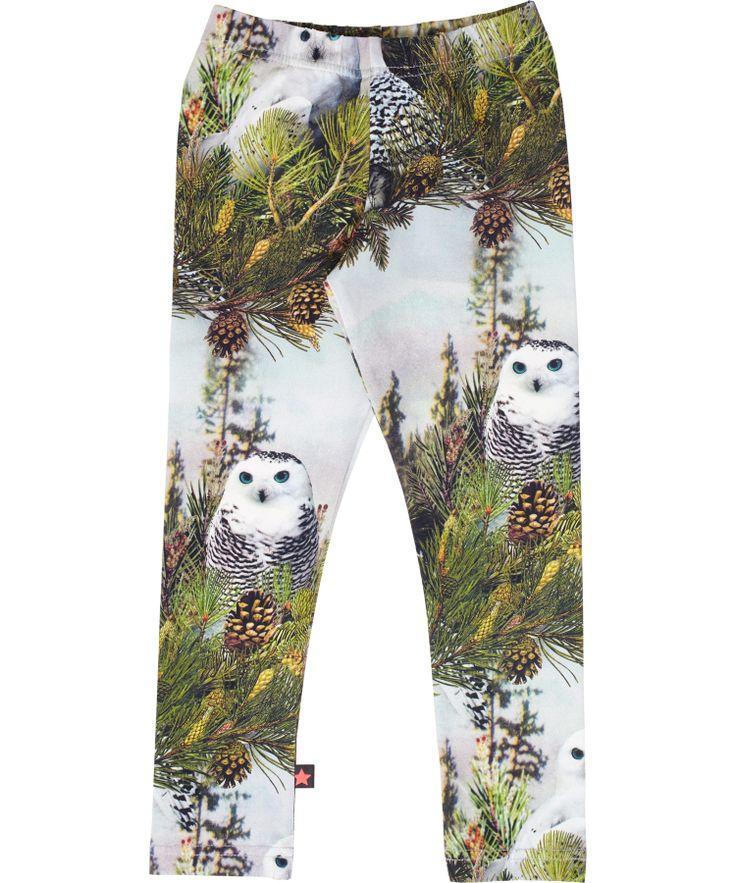 Molo fancy leggings met witte uilenprint. molo.nl.emilea.be